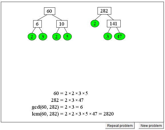 and LCM via Factor Tree