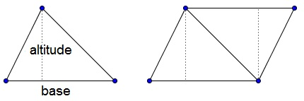 how to draw a triangle into a parallelogram
