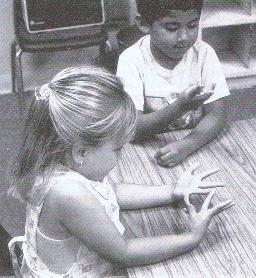 children counting on fingers