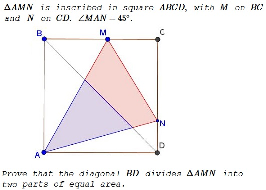 how to find the length of a 45 degree angle