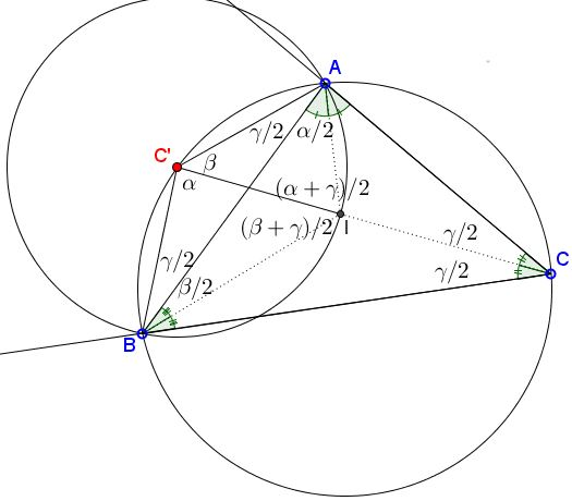 a property of circle through the incenter