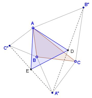 another equilateral triangle in Napoleon's configuration