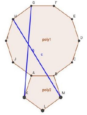 Pentagon And Decagon, Both Regular