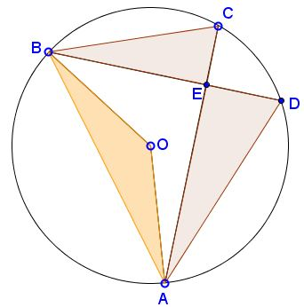 three triangular areas in circle - problem