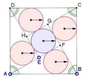 Five Incircles in a Square