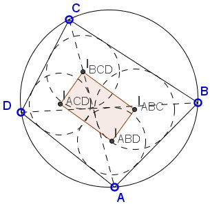 Incenters in cyclic quadrilateral japanese theorem rectangle in a cyclic quadrilateral ccuart Gallery
