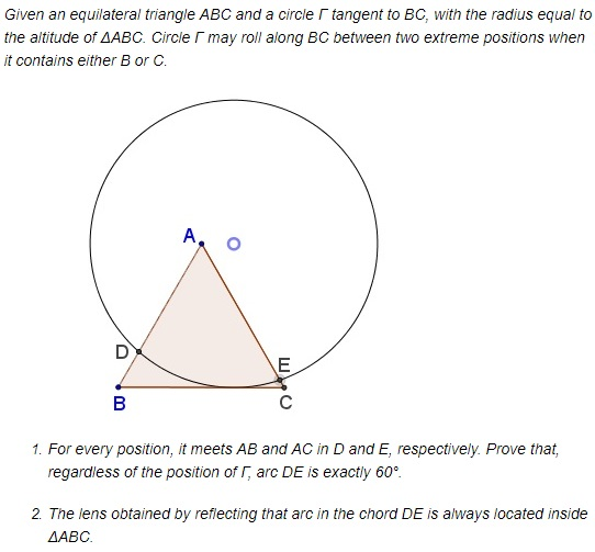 A Circle Rolling In An Equilateral Triangle