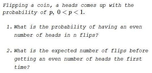 Concerning Even Number of Heads