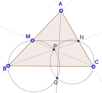Symmedian via Parallel Transversal and Two Circles, problem