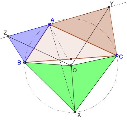 a generalization of the Pythagorean theorem by Tran Quang Hung, problem