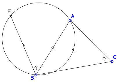circle through the incenter - problem