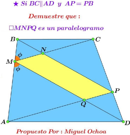 Parallelogram in Trapezoid