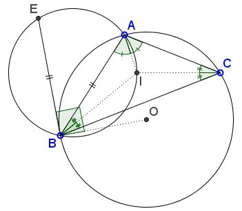 circle through the incenter and a tangent