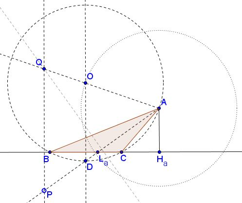 how to find a perpendicular bisector in triangle